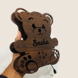 Customized teddy bear Name board with led