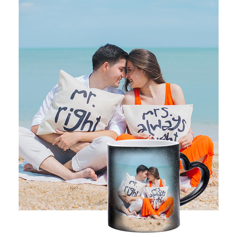 Personalised Heart Black Magic Mug