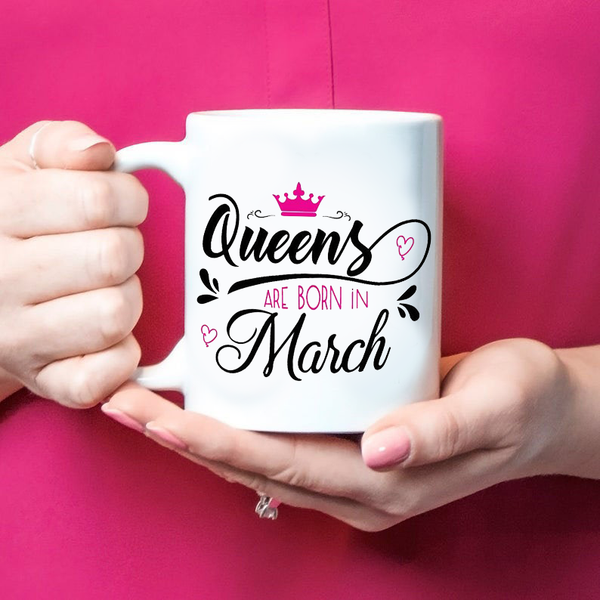 Queens Are Born Birthday Personalized Mug