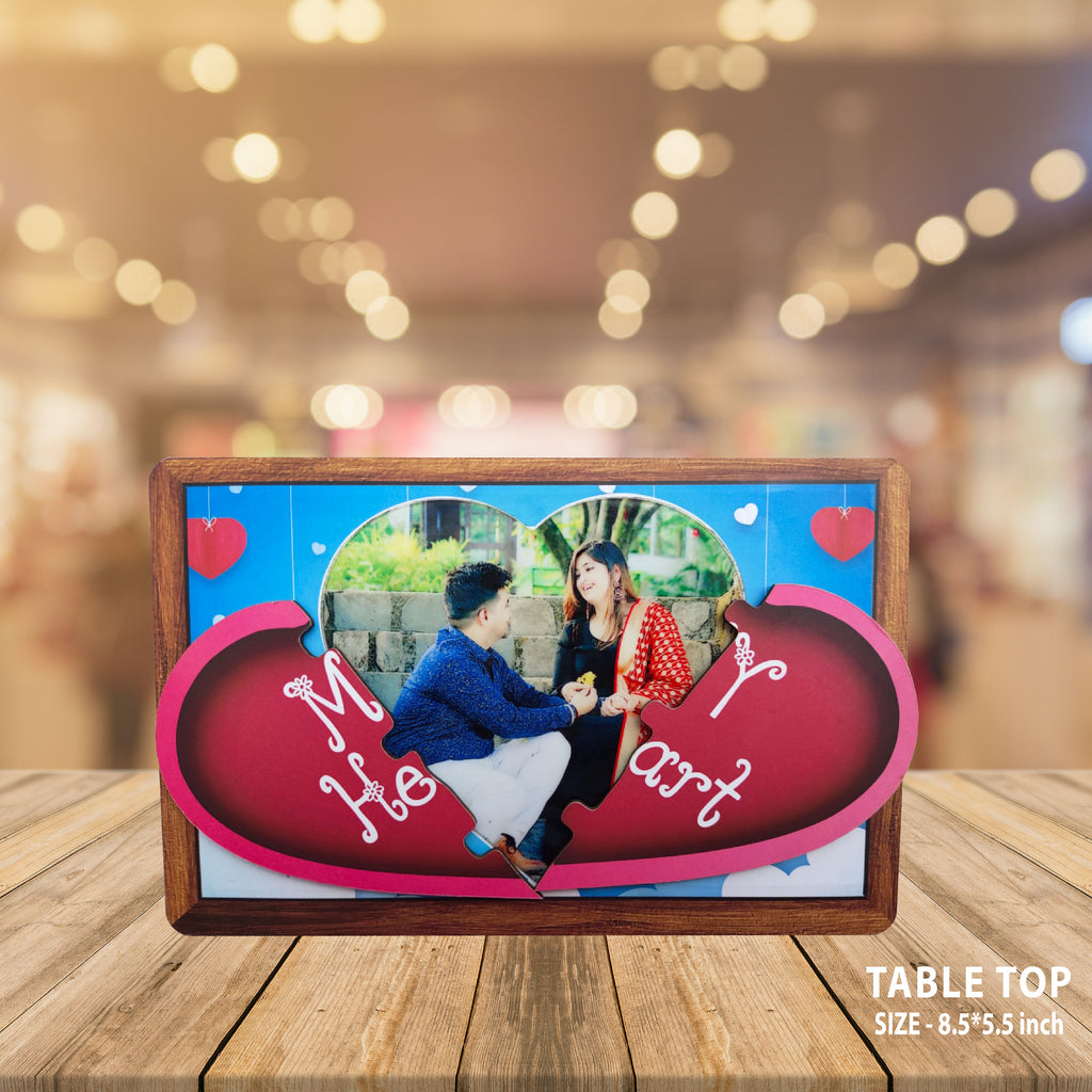 MAGNETIC PERSONALIZED HEART PHOTO FRAMES