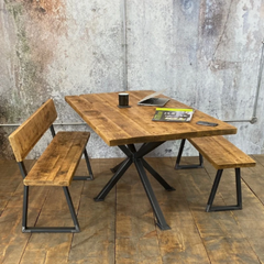 Reclaimed Table & Bench