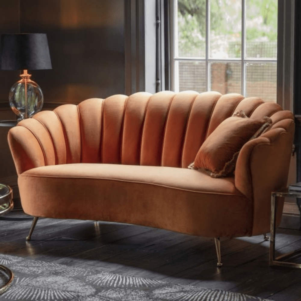 Milano Rust Orange Deco Sofa