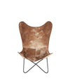 Vintage Style Leather Butterfly Chair