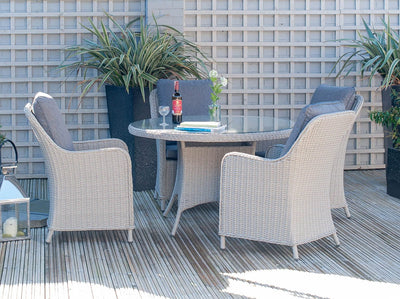 Antigua 4 Seater Round Dining Set