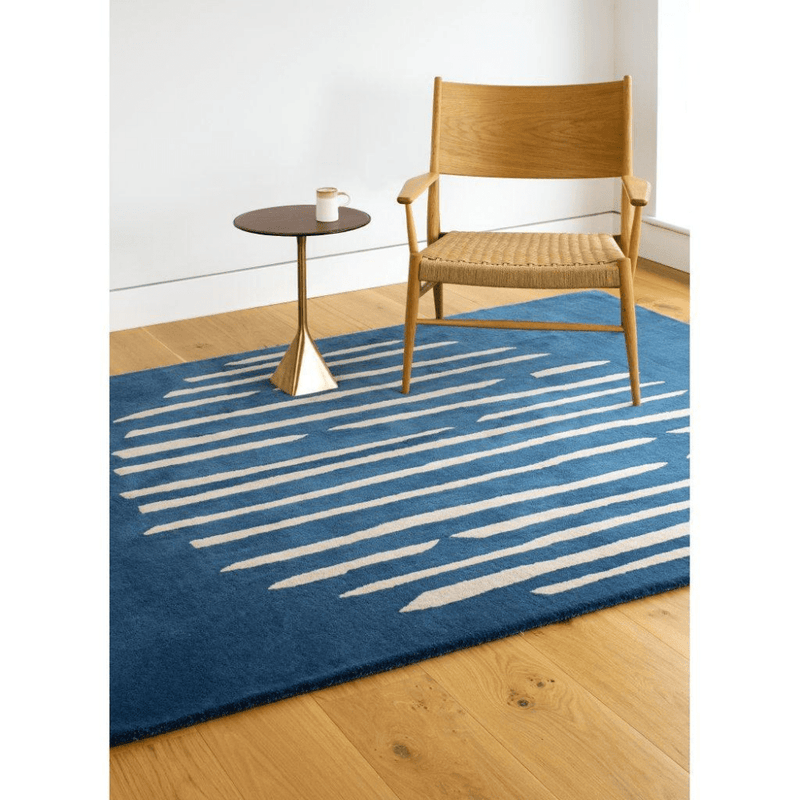 Island Blue Hand-Tufted Wool Rug