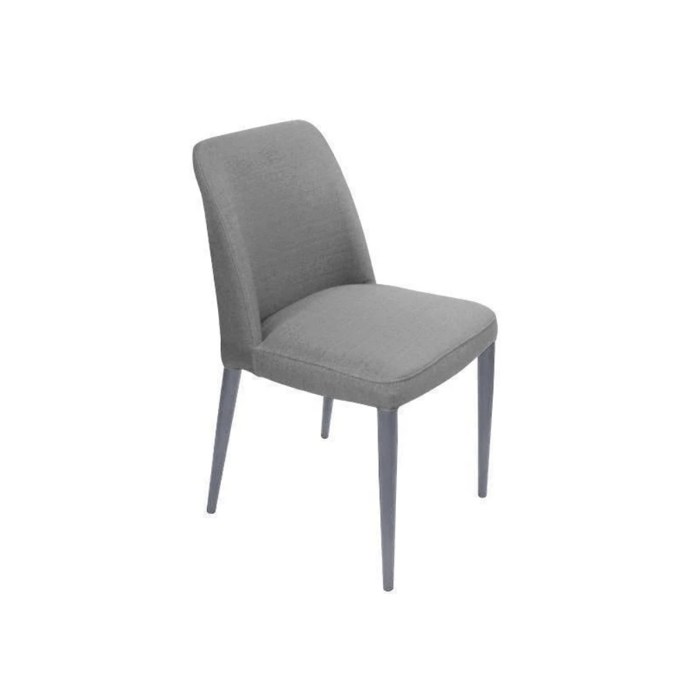 Set of 2 Alpha Dining Chairs - Grey
