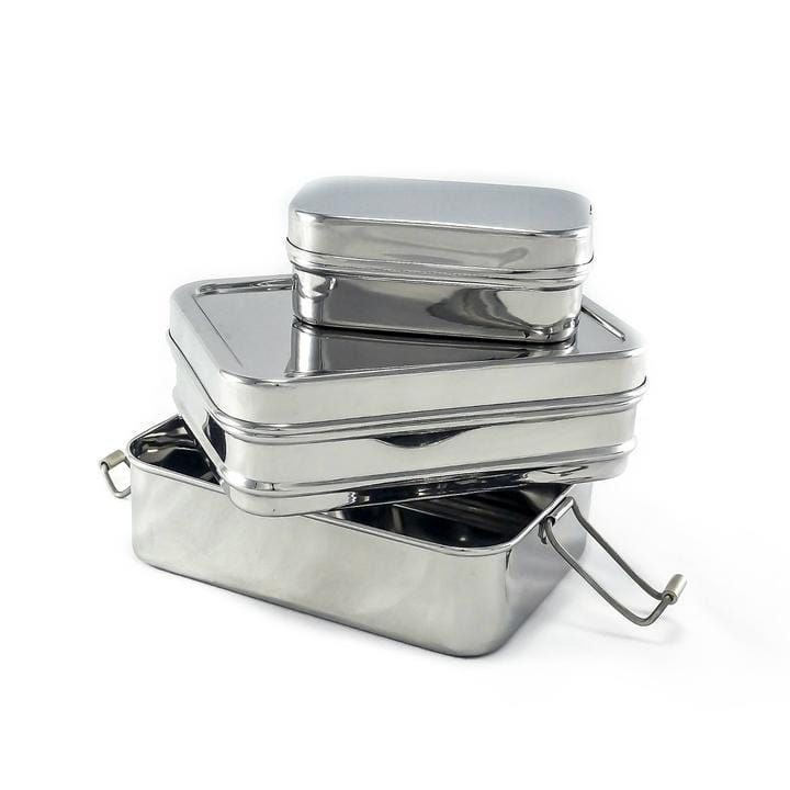 2-Tier Stainless Steel Lunch Stacker Box With Mini Pod (Standard Size)