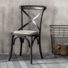 Parisian Distressed Vintage Cafe Chair - Set of 2