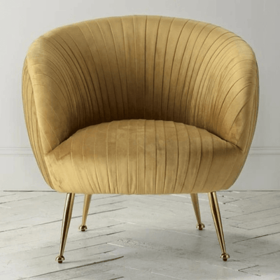 Valencia Golden Velvet Deco Tub Chair