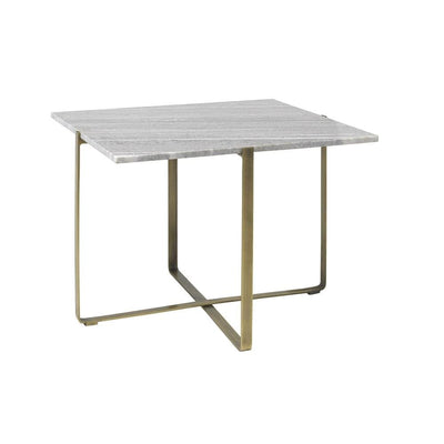 Objet Marble & Brass Square Coffee Table