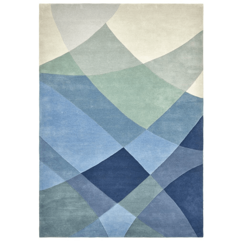 Rhythmic Tides Hand-Tufted Wool Rug