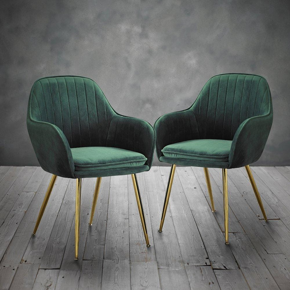 Como Vintage Velvet Chairs (Set of 2)