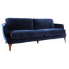 Emilie Velvet Sofa - Dark Blue