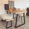 Reclaimed Dining Table - Triangle Frame