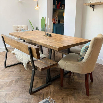 R*claimed Dining Table - Triangle Frame - New Light excl WW