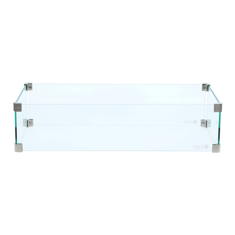 Fire Pit Safety Glass Square - Rectangular