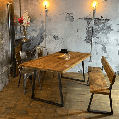 Pre-Christmas Delivery - Industrial Dining Table - Tri Base
