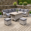 Barbuda Corner Dining Set with Adjustable Table