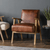 Harper Vintage Brown Leather Armchair