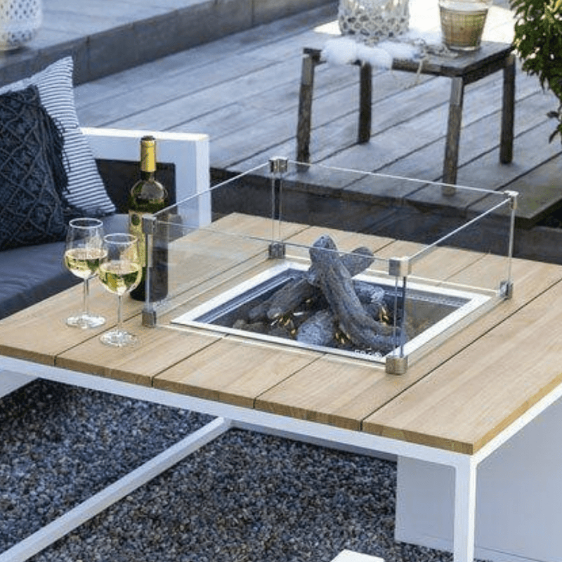 Fire Pit Safety Glass - Square (Large)
