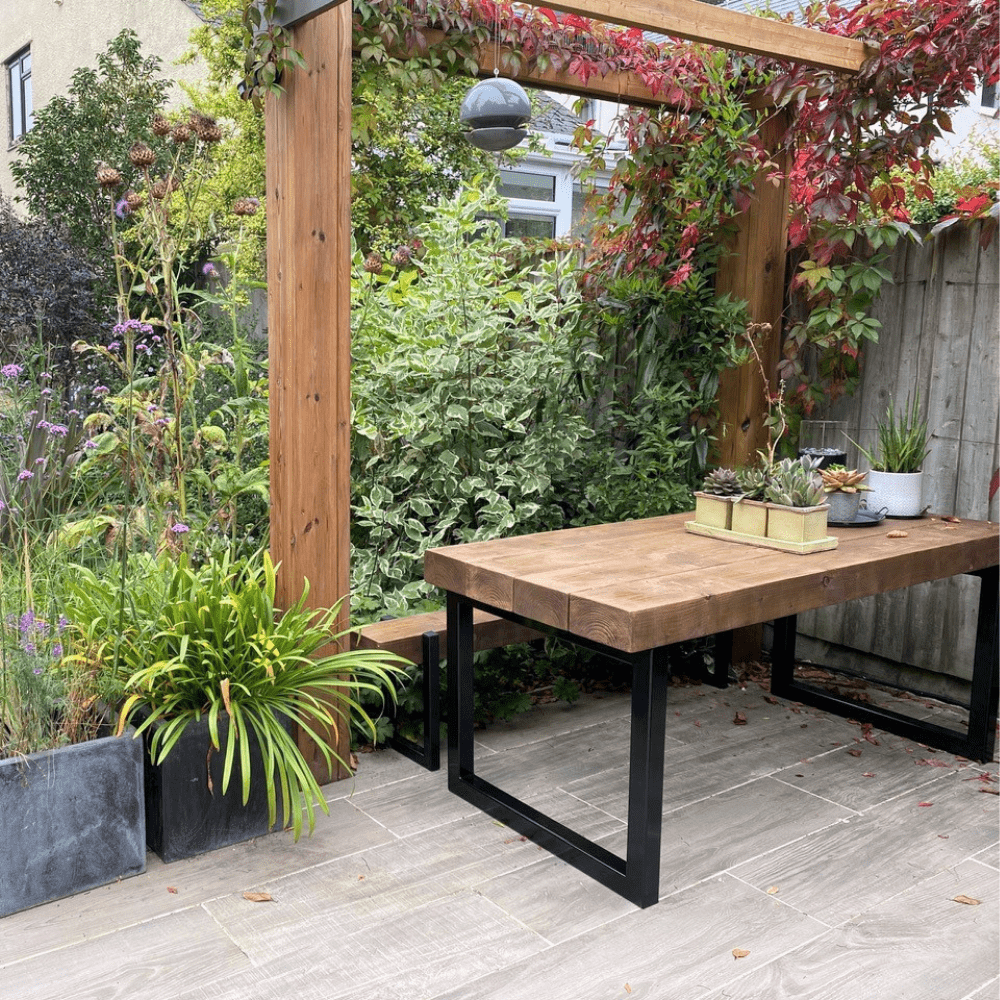 Buy Reclaimed Outdoor Dining Table With Box Frame Hemming Wills