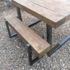 Reclaimed Outdoor Bench - Box Frame