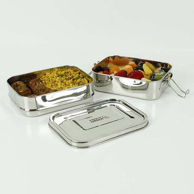 Leak Resistant Two Tier Stainless Steel Lunch Box