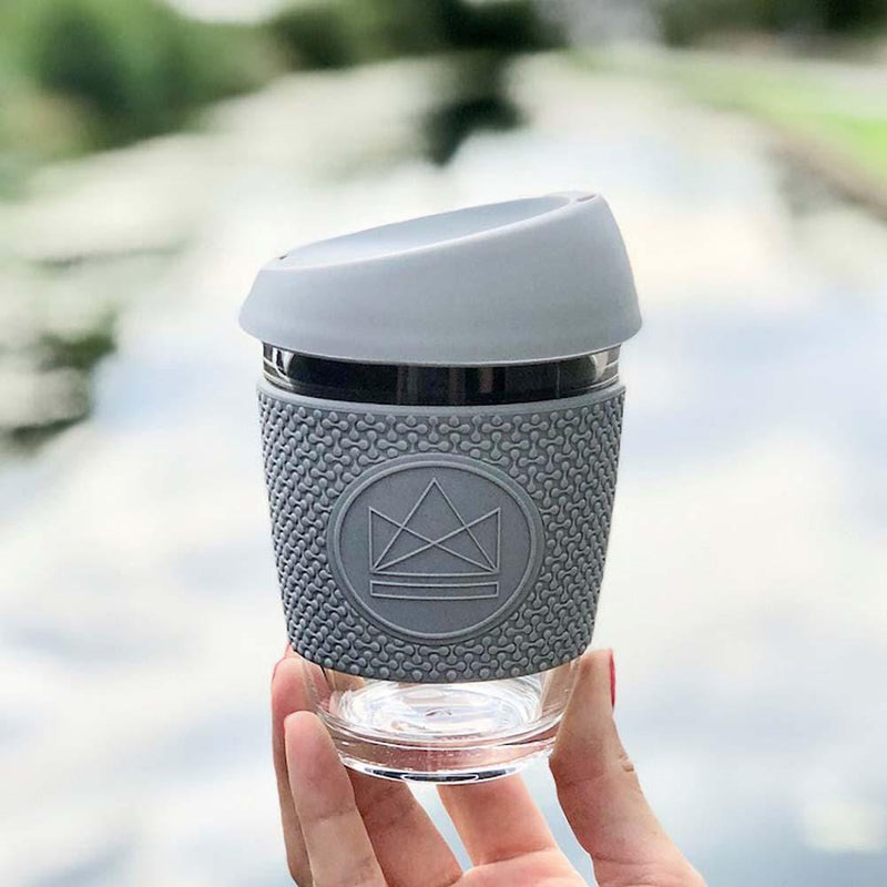 Reusable Glass Coffee & Tea Cup