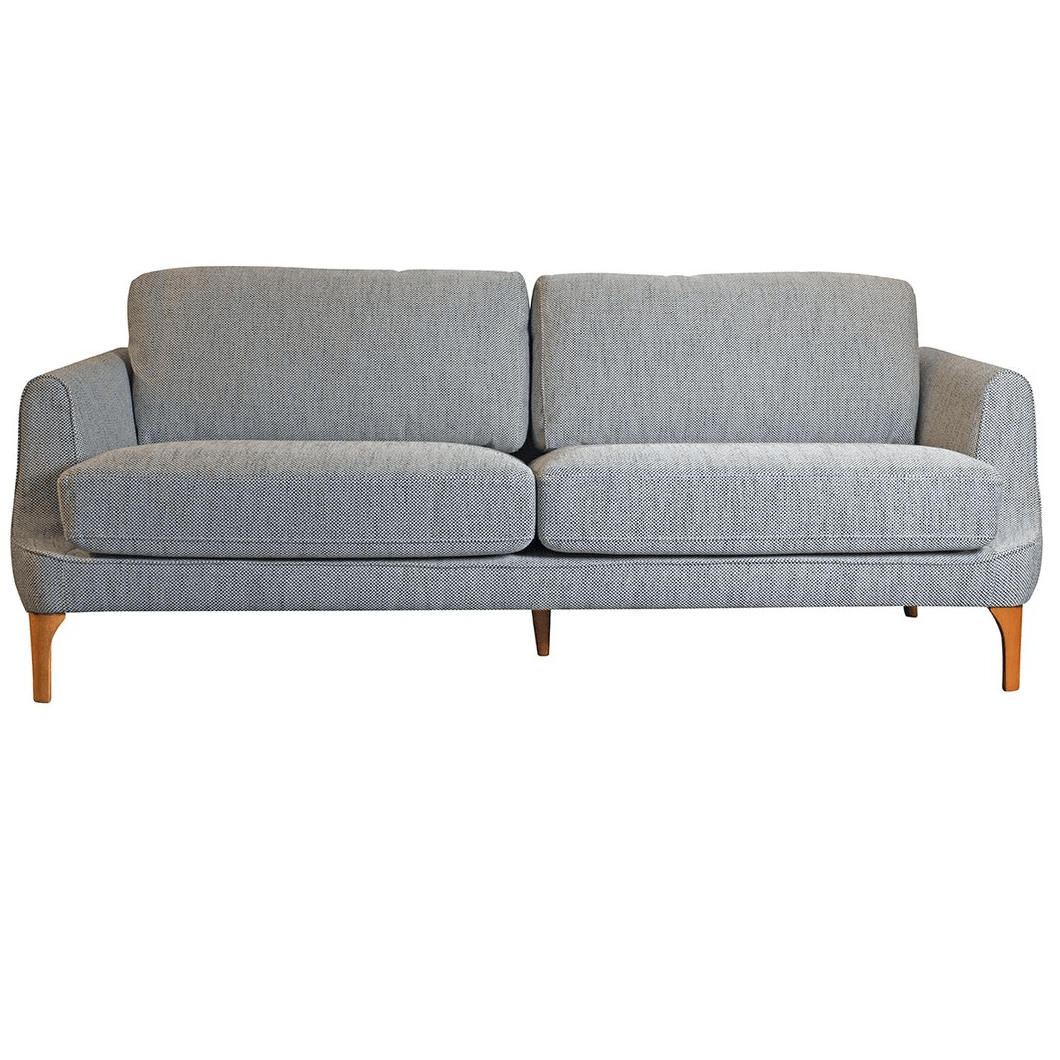 Emilie 3 Seater Tweed Sofa - Grey