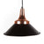 Matte Black & Rose Gold Pendant Light