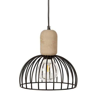 Industrial Cage Style Pendant Light