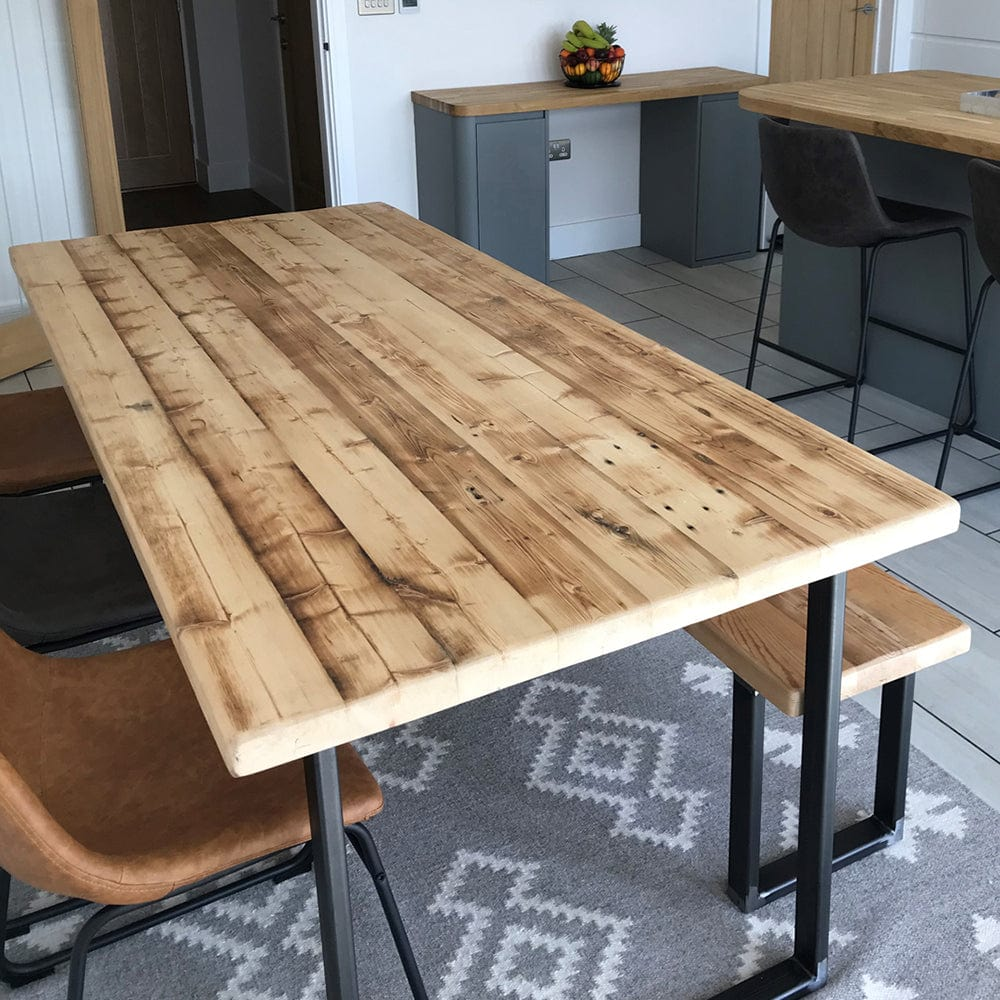 Reclaimed Dining Table - U Base