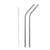 Stainless Steel Bent Straws - Brushed Steel - Set of 2 & Brush by Qwetch