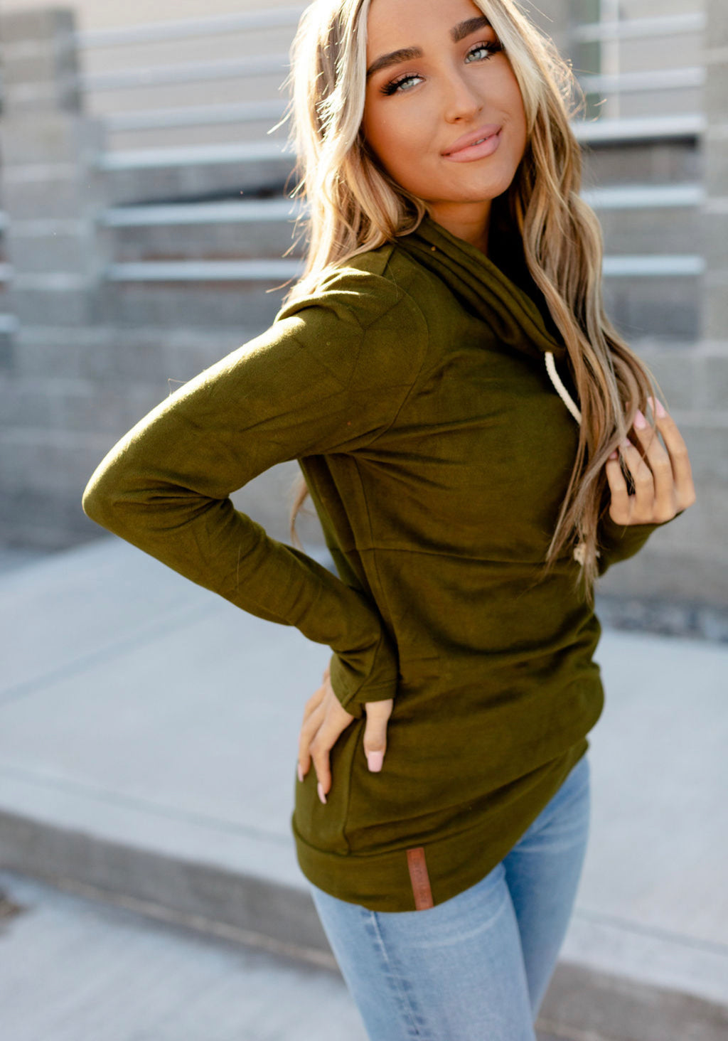 Olive Performance Fleece by Ampersand Ave.