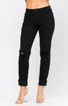 Distressed Blacked Slim Fit Judy Blue Jeans 88137