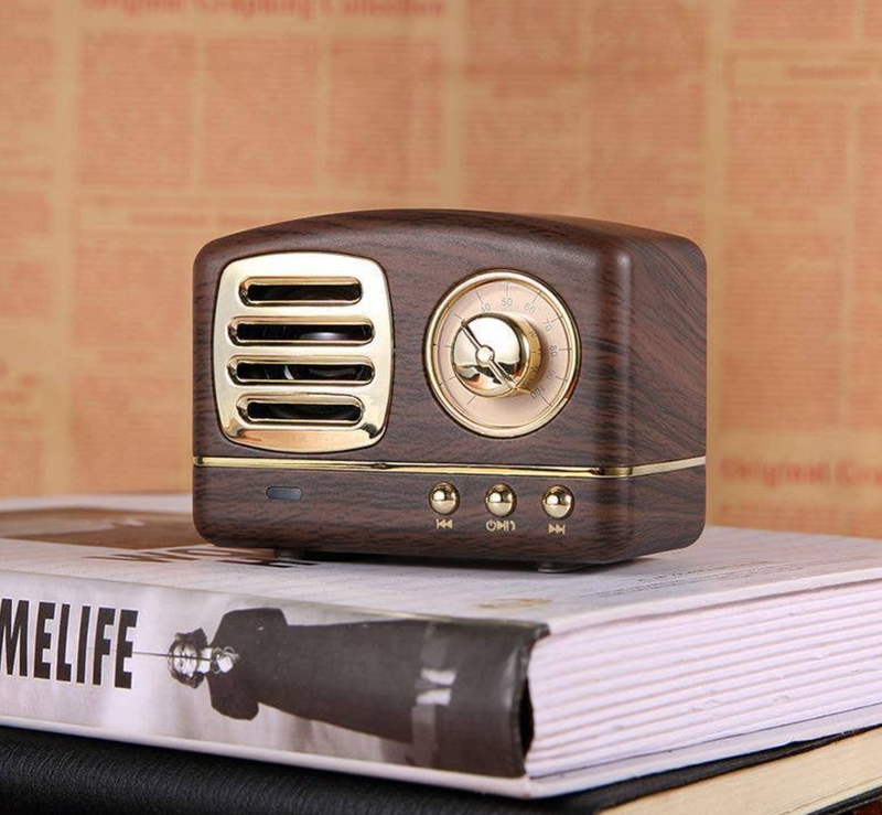Wood Grain Retro Bluetooth Speaker
