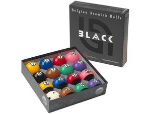 Aramith Tournament Black TV Ball Set