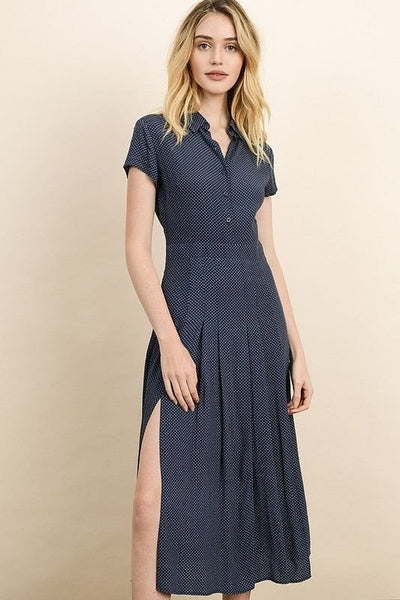 Dress Forum - Pin Dot Short Sleeve Shirt Dress