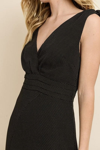 Dress Forum - Pin Dot Asymmetrical Hem Dress