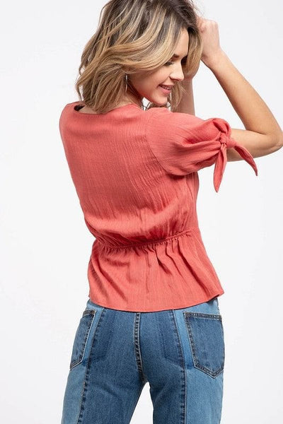 Blu Pepper - Scalloped Wrap Top