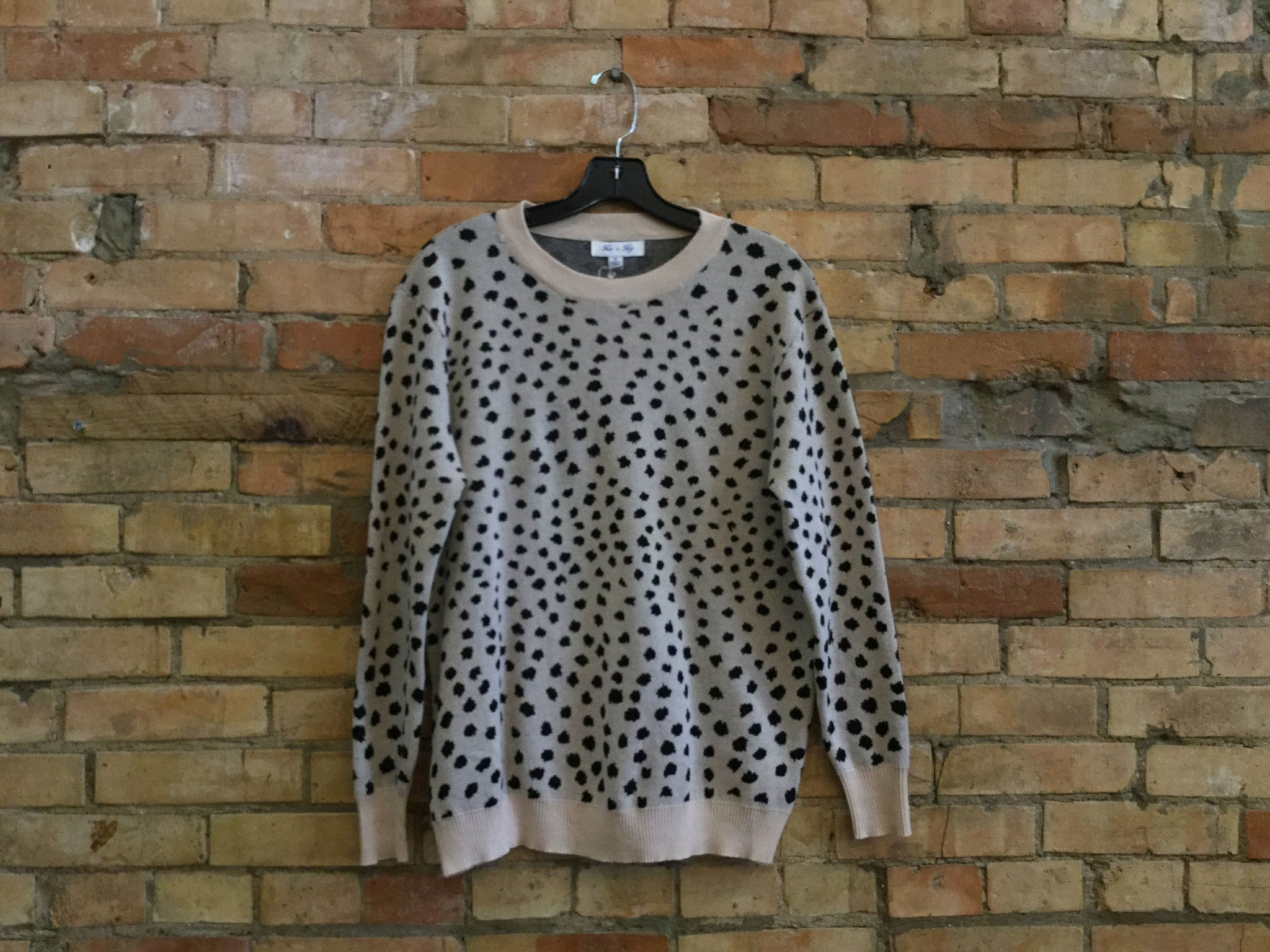 She + Sky Animal Print Knit