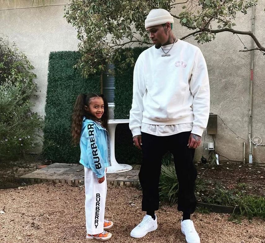 Chris & Royalty Brown Share Father Daughter Moment