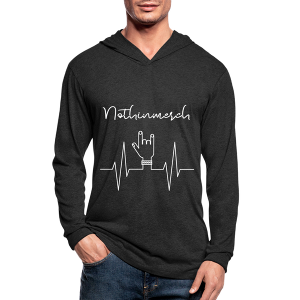 Good Vibes Nothinmerch Unisex Tri-Blend Hoodie Shirt - heather black