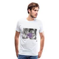 The Chef Purple Tape Men's Premium T-Shirt - white