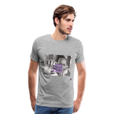 The Chef Purple Tape Men's Premium T-Shirt - heather gray