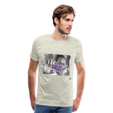The Chef Purple Tape Men's Premium T-Shirt - heather oatmeal