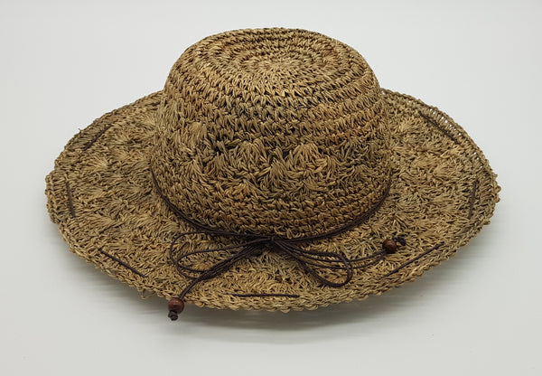 Maribel Hand Crochet Seagrass Round Hat