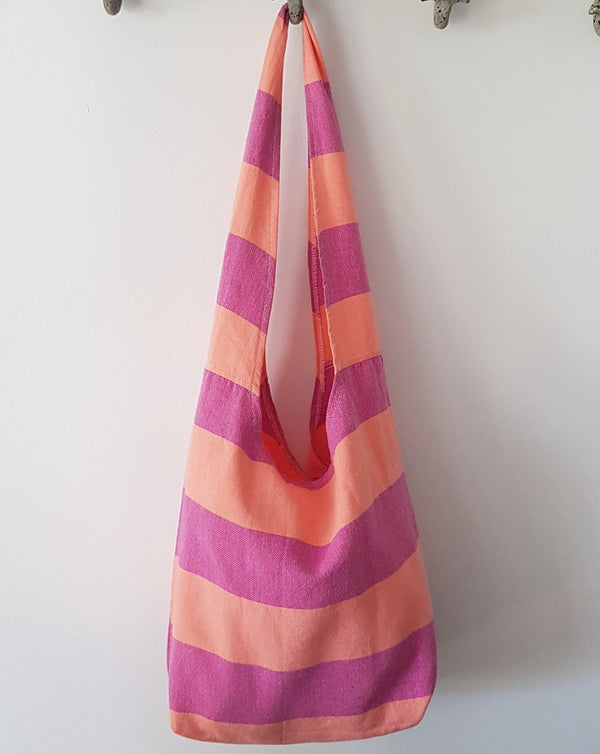 Bodrum Beach Bag - Hot Pink & Coral