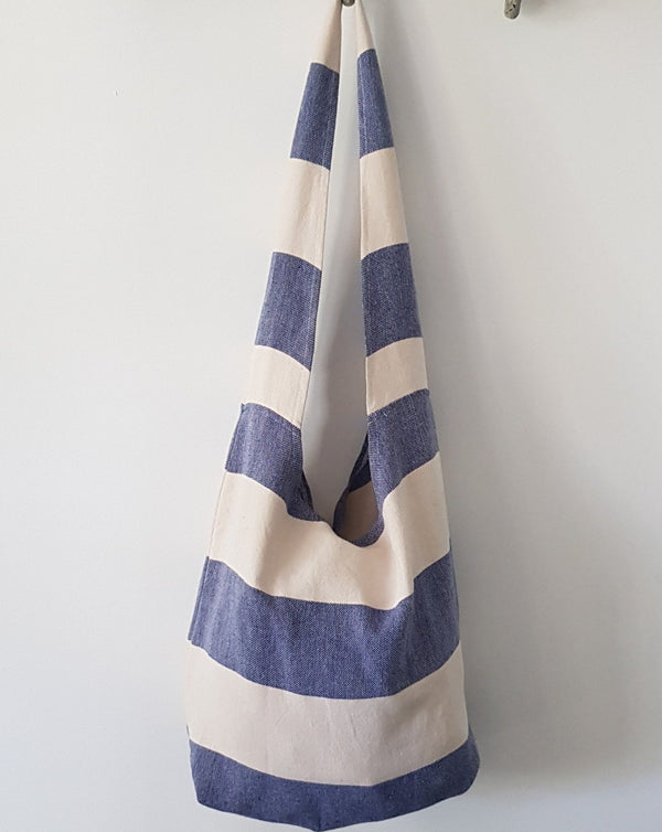 Bodrum Beach Bag - Navy Stripe