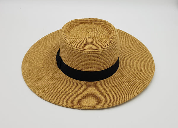 Sophia Planter Sun Hat with Black Band